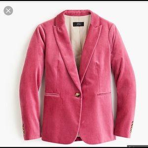 J Crew Parker velvet blazer, pink, 2